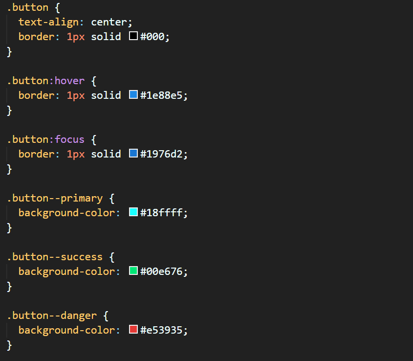 遵循 BEM( Block Element Modifier )架构的 CSS 代码