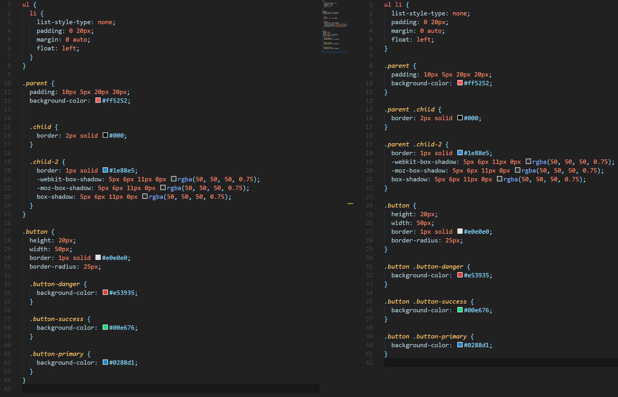 SASS 和 CSS 的区别