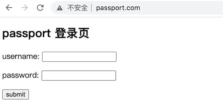 Passport 登录页效果