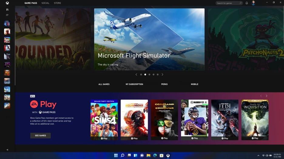 Windows 11 游戏中心