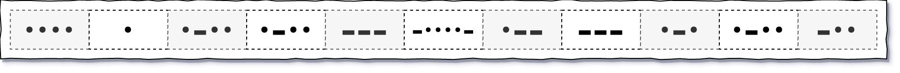 日常看到的 hello world 的摩尔斯码