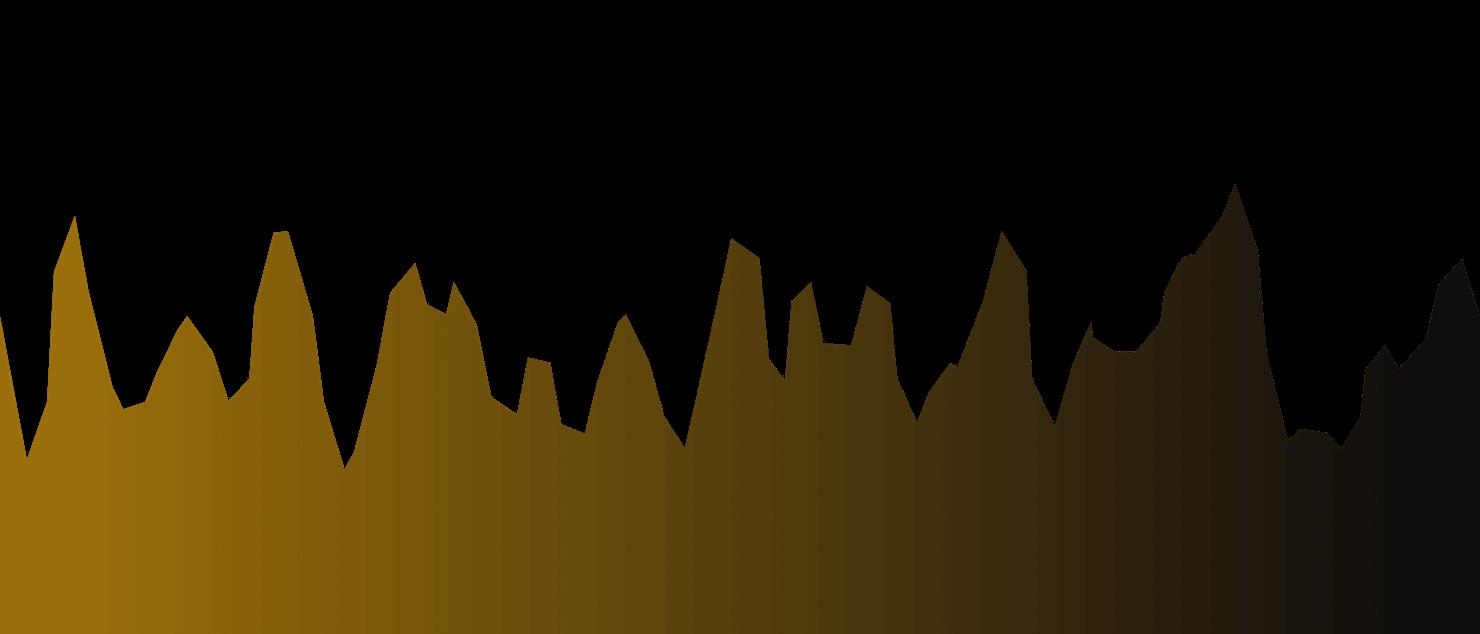 折线型波浪图,渐变色