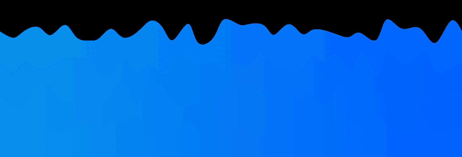 4 层渐变波浪图,蓝色,密度适中